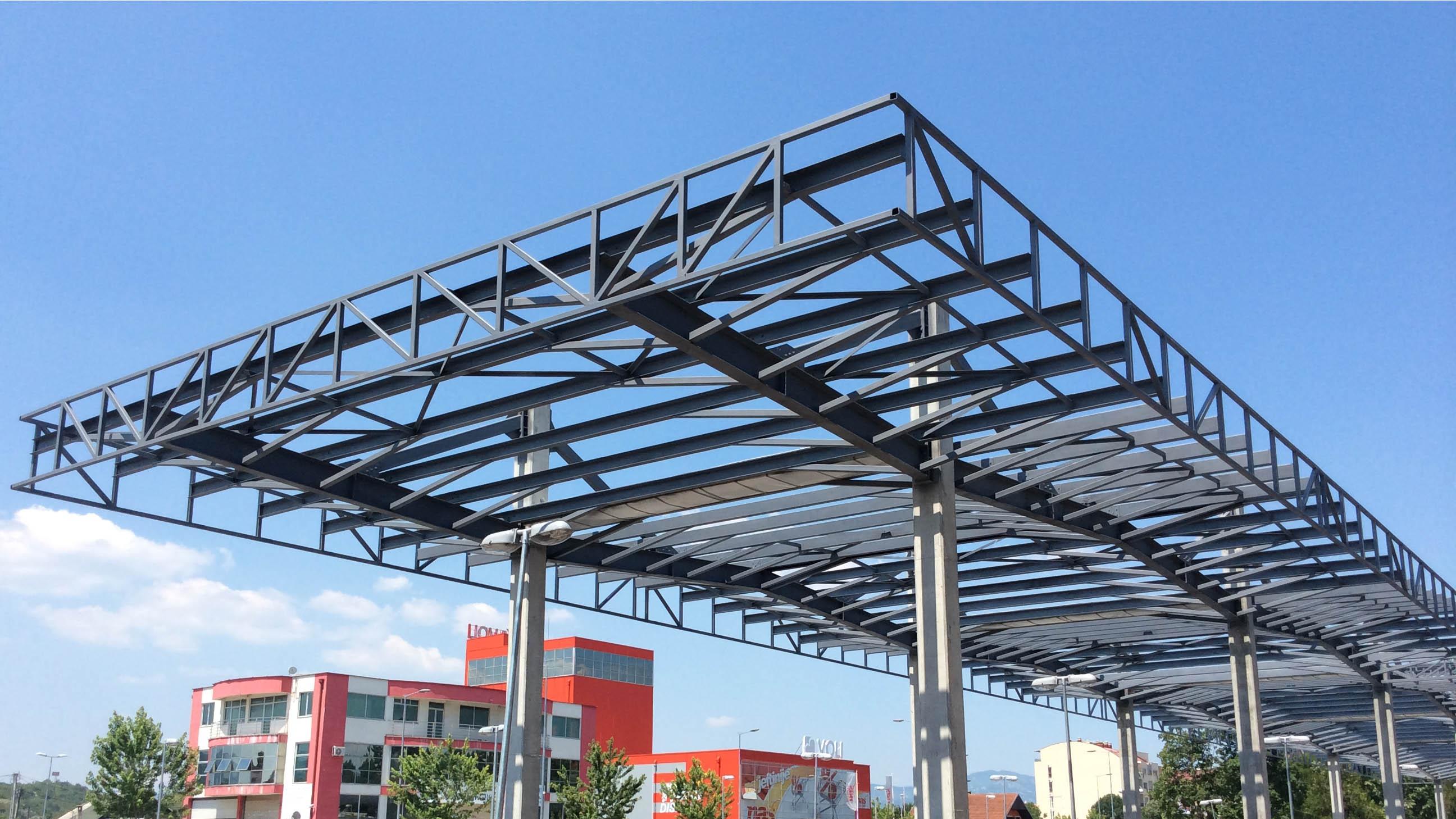 ... STEEL STRUCTURES (PARKING CANOPY 1) 3 & Europrojekt | STEEL STRUCTURES (PARKING CANOPY 1)