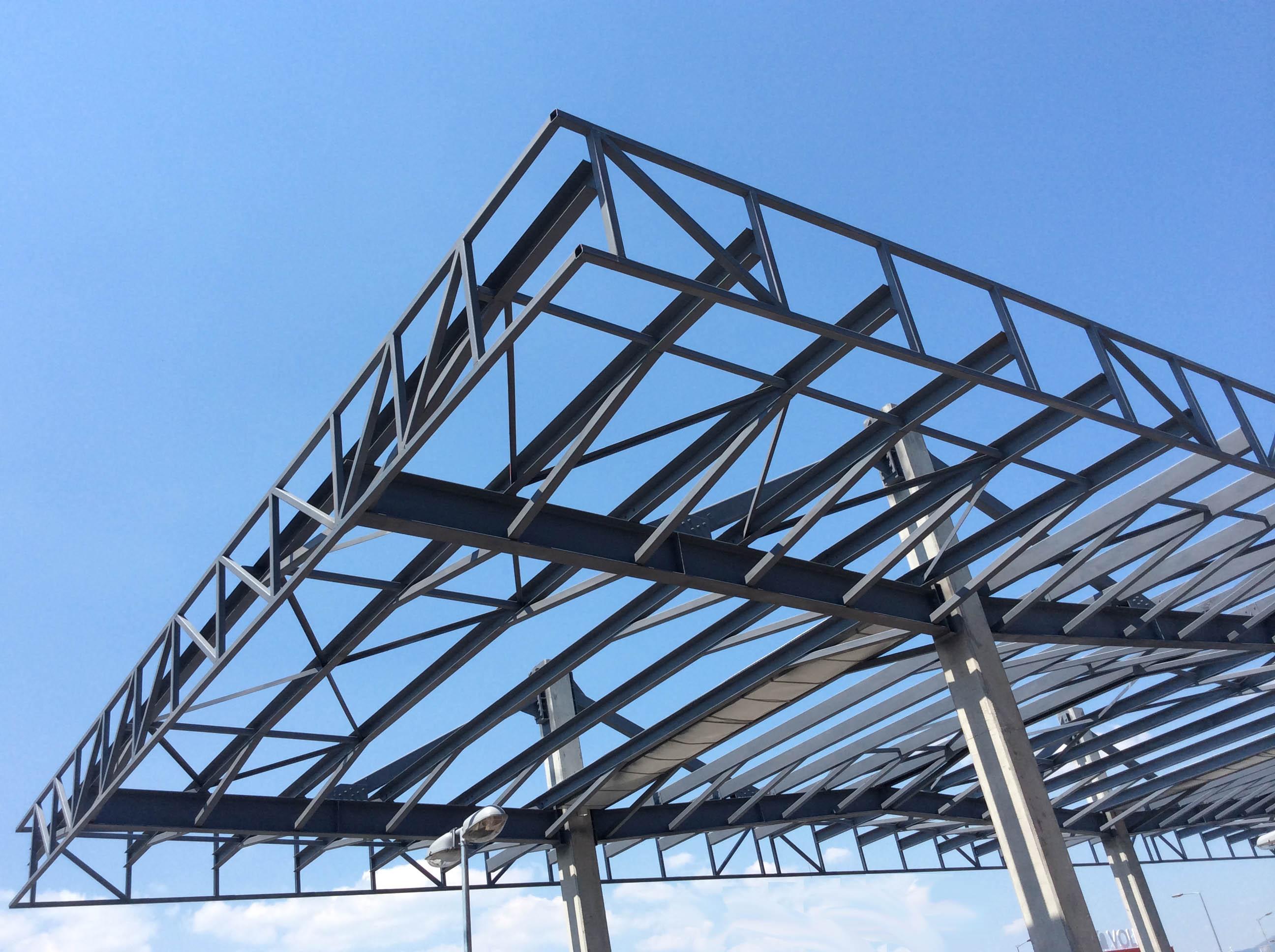 STEEL STRUCTURES (PARKING CANOPY 1) 1 ... & Europrojekt | STEEL STRUCTURES (PARKING CANOPY 1)